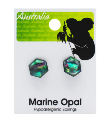 Paua Shell Koala Earrings