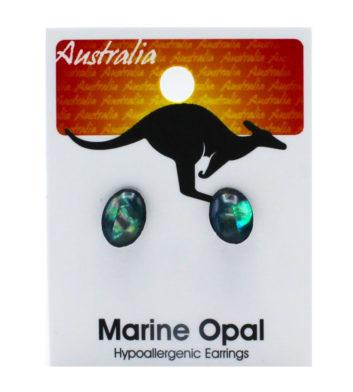 Paua Shell Kangaroo Earrings