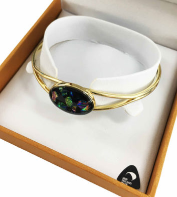 Dichro Chip Rainbow Bangle