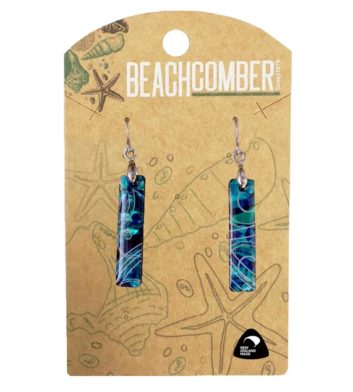 Paua Shell Rectangle Earrings