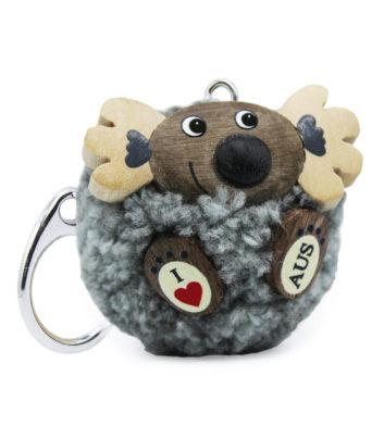 Pom Pom Koala Keyring