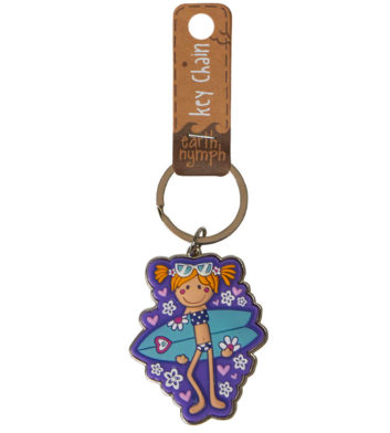 Surfer Girl Keyring
