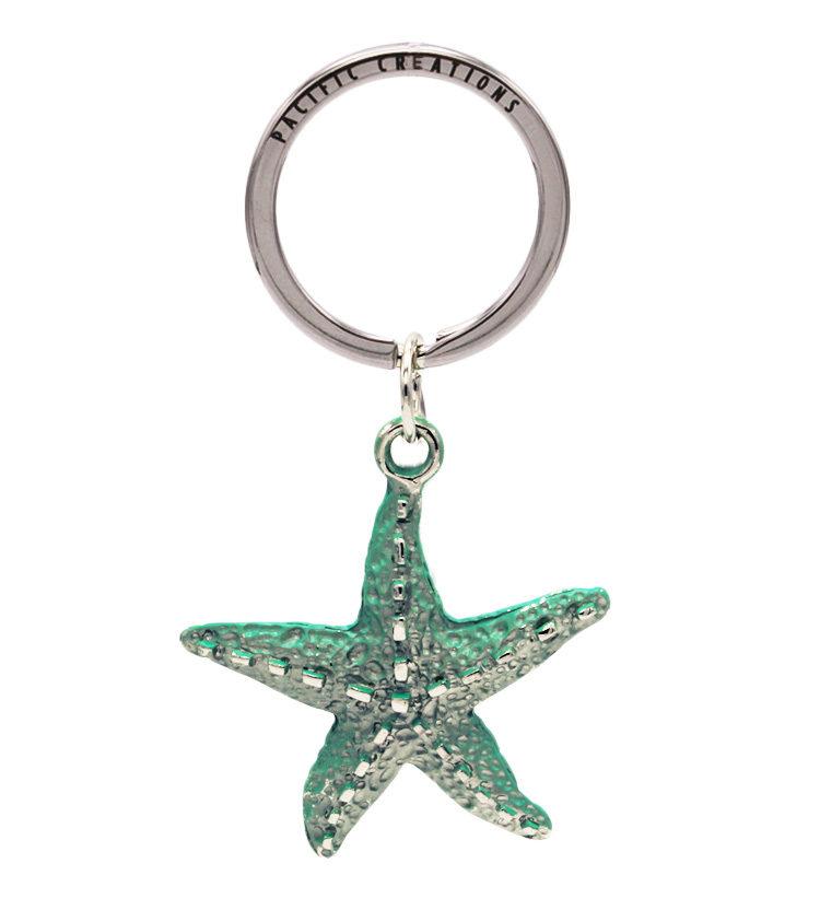 Starfish Metal Keyring