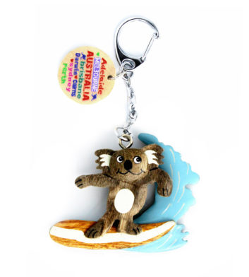 Surfing Koala Key Ring