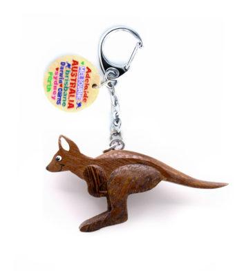 Flying Kangaroo Keychain