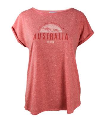 Australia Womens T-Shirt Red