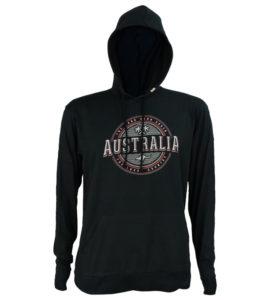 Australia Hooded Mens Long Sleeve T-Shirt
