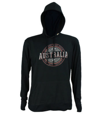 Australia Hooded Mens Long Sleeve T-Shirt
