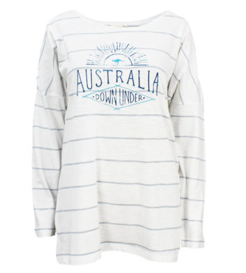 Australia Blue Stripe Womens Long Sleeve