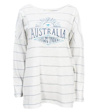 Australia Blue Stripe Womens Long Sleeve