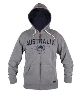 Mens Australia Zip Hoody