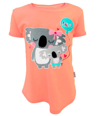 Koala Cuddles Kids T-Shirt Peach
