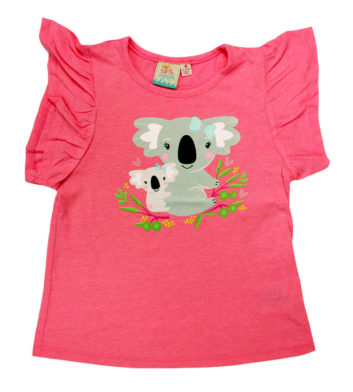 Koala Mummy Kids T-Shirt Pink