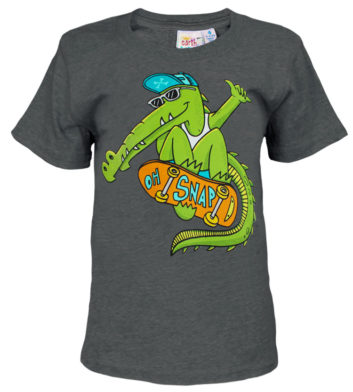 Skater Crocodile Kids T-Shirt