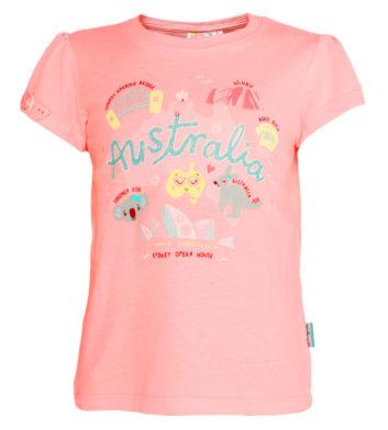 Pink Australian Icons Kids T-Shirt