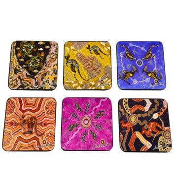 Wooden Dot Kangaroo Coasters