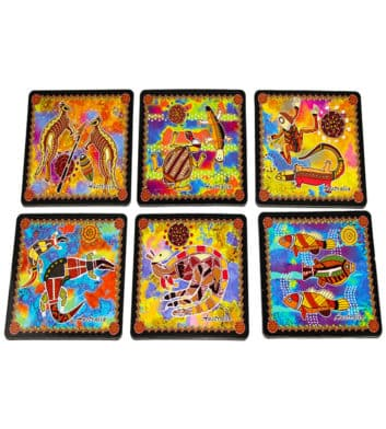 Dot Animals Square Coasters