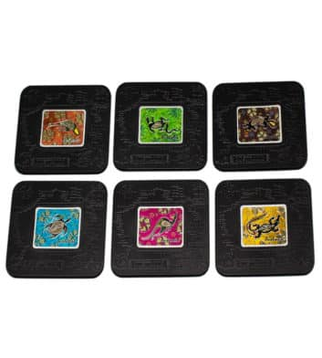 Metallic Dot Animals Coasters