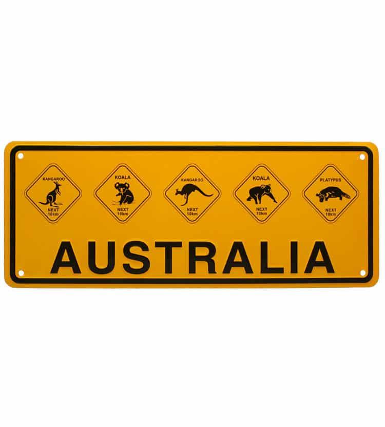 Australian Roadsign Licence Plate