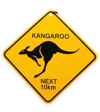 Souvenir Kangaroo Roadsign
