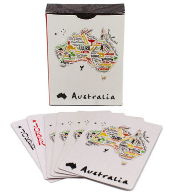 Australia Map Playing Cards