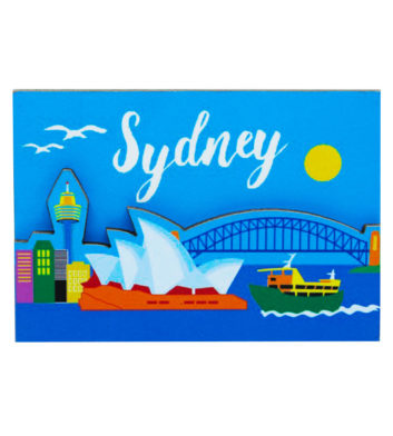 Sydney Wooden Gallery Magnet