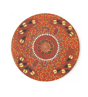 Honey Ants Aboriginal Coaster