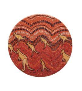 Kangaroo Sunset Aboriginal Coaster