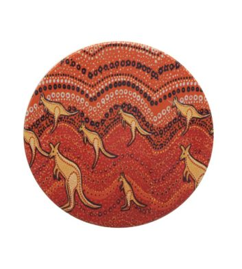 Kangaroo Sunset Aboriginal Coaster