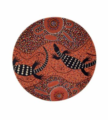 Hunting Perentie Aboriginal Coaster
