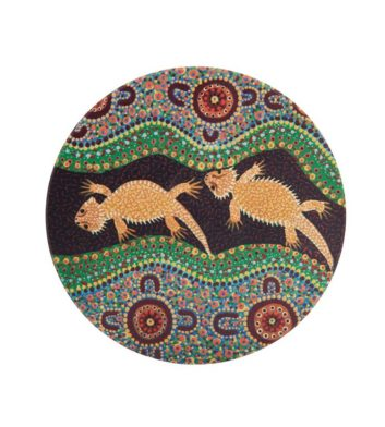 Bearded Dragon Aboriginal Coaster