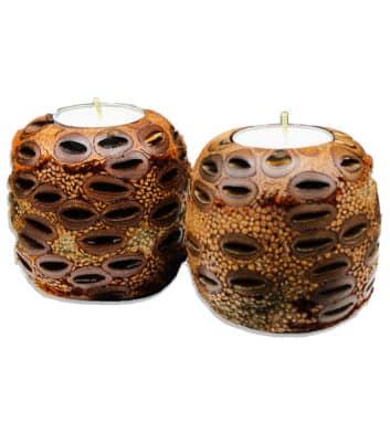 Banksia Double Tea Light Holder