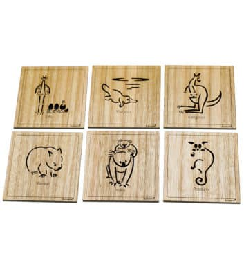 Australian Animal Coasters Square