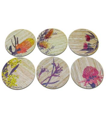 Coloured Wildflower Coaster Set