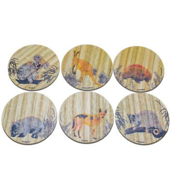 Australian Animal Coasters Colour