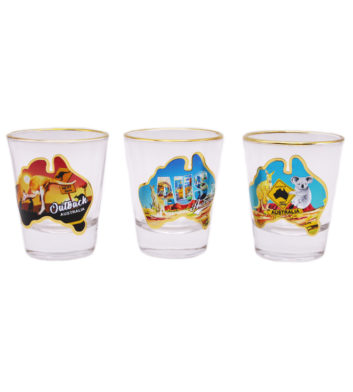 Australian Map Shotglasses 3 Pack