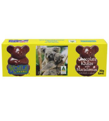 Chocolate Macadamia Koala Shapes 35g