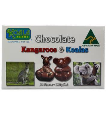 Chocolate Kangaroos & Koalas
