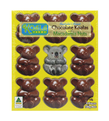Chocolate Macadamia Koala Shapes 100g