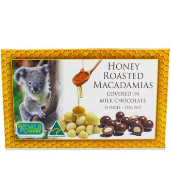 Honey Roasted Chocolate Macadamias