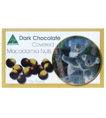 Dark Chocolate Macadamia Nuts 135g