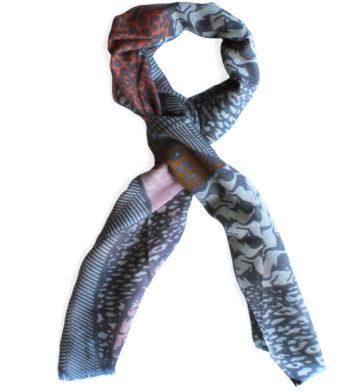 Merino Wool Multi Kangaroo Scarf