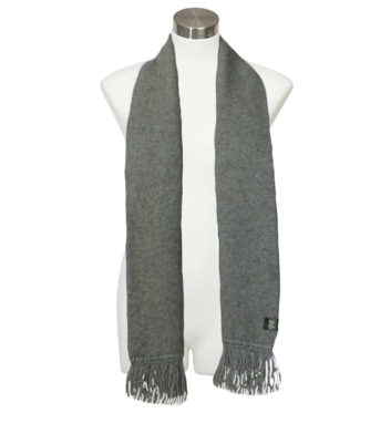 Merino Possum Fringed Scarf Grey