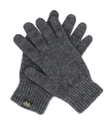 Merino Possum Gloves Grey