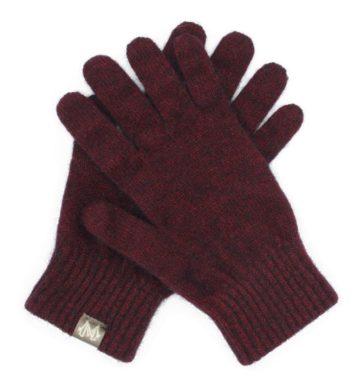 Merino Possum Gloves Maroon