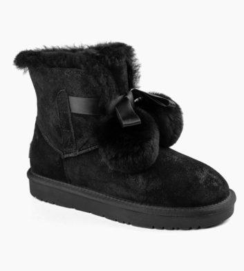 Ugg Stella Pom Pom 3/4 Boot Black
