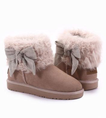 Ugg Winnie Bow Fur Boot Pink