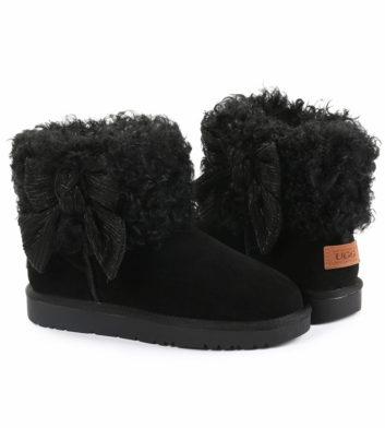 Ugg Winnie Bow Fur Boot Black