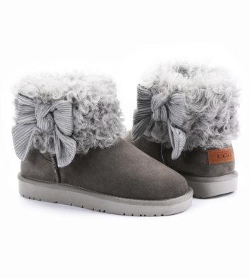 Ugg Winnie Bow Fur Boot Grey