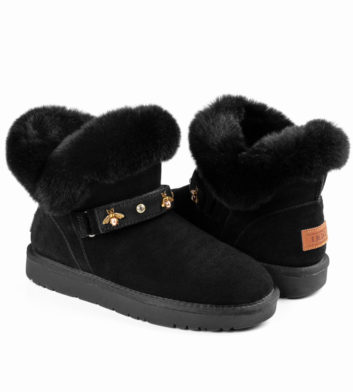 Ugg Polly Buckle Boot Black